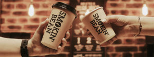Smokin Bean cups cheers