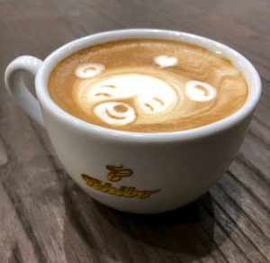 happy coffee bear