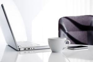 coffee laptop work