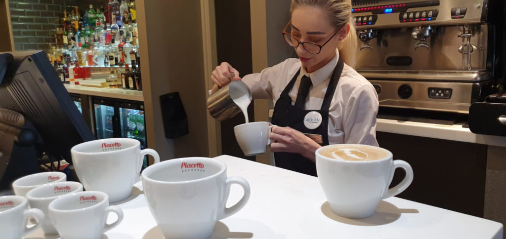 Barista in competition